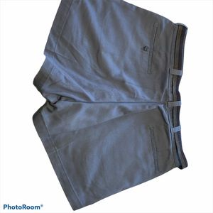 LL Bean 71341 blue belted shorts size 36 Nee